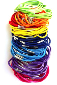 100 Coloured Thin Hair Elastics IN8710