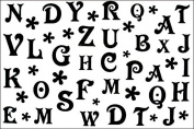 SPESTYLE waterproof non-toxic temporary tattoo stickerslatest new design new release temp tattoos waterproof male and female models black and white 26 letters of the alphabet temporary tattoo