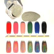 1.5g/Box Rainbow Holographic Nail Powder Laser Chrome Nail Glitter