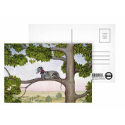 The Tree Whippet by Ditz - Postcard (Pack of 8) - 15cm x 10cm - Art247 Highest Quality - Standard Size - Pack Of 8