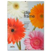 Innova Editions 13 x 18 cm/ 7 x 5-inch Picture/ Poster Glass Clip Frame with Clips and Edged Backing Board, White
