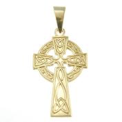 9ct Gold Celtic Cross with Jewellery Presentation Box