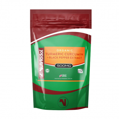 Organic Turmeric Curcumin 500mg w Black Pepper Extract