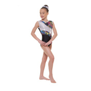 Gym 39 Foiled Nylon Lycra Tappers & Pointers Gymnastic Leotard