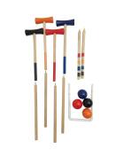 Funmate 4 Player KD Wooden Garden Croquet Set