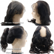 Atina Hair Pre Plucked 360 Lace Frontal Closure Brazilian Body Wave Virgin Human Hair Custom 360 Full Degree Frontal