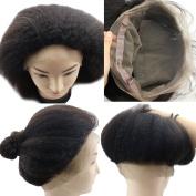 Atina Hair Kinky Straight 360 Lace Frontal Brazilian Virgin Human Hair Coarse Italian Yaki 360 Circular Frontal Closure
