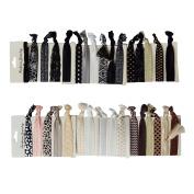 RareLove No Crease Hair Tie,Dark Bright Mix Colour Elastic Hair Ties Holder Ponytail Holders 33pcs Pack