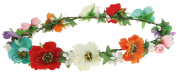 Capelli New York Ladies Floral Garland Wired Headwrap Multi One Size