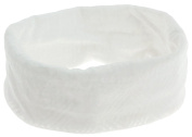 Capelli New York LadiesTubular Headwrap with Geometric Burn Out Print White One Size