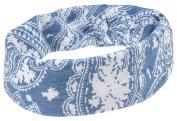 Capelli New York Ladies Tubular Paisley Print Head Wrap Light Blue One Size