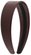 Capelli New York Ladies 2.5cm Wide Metallic PU Cover Head Band Brown One Size