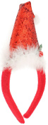 Capelli New York Ladies Santa Hat Decorative Head Band Red One Size