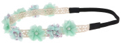 Capelli New York Ladies Two Tone Floral Print Headwrap Mint One Size