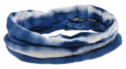 Capelli New York Ladies Stripes Tie Dye Tubular Headwrap Blue One Size