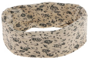Capelli New York Ladies Jersey Flower Print Tubular Head Wrap Natural One Size