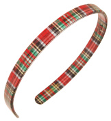 France Luxe 1.3cm Ultracomfort Headband - Tartan Plaid Red/Green