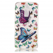 BLT® LG K8 Case, Buttterfly and Flower Patttern Case for LG K8 / LG Escape 3/ LG Phoenix 2 with a Phone Bracket
