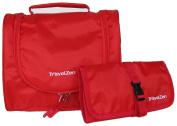 Flexi Travel Toiletries Kit - Hanging Toiletry Bag w Multi Use Wallet