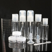 Gospire Travel Bottles Set Plastic Spray Bottle Pump Bottle Funnel for Cosmetic Makeup 11pcs Package