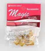 Mixed Dread Lock Dreadlocks Gold and Silver Plated Beads Metal Cuffs Hair Decoration Filigree Tube 20 Pcs