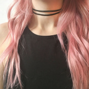 Bridalvenus Black Lace Choker Necklace Chic Bowknot Jewellery for Women and Girls on Wedding, Party and Evening