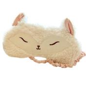 Ayygiftideas Sweet Fox Lambs Wool Patch Eye Mask Eyeshade Cover Sleeping Blinder