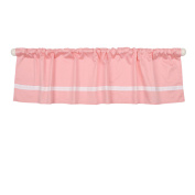 Coral Pink Tailored Window Valance by The Peanut Shell - 100% Cotton Sateen