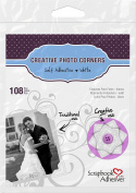 Scrapbook Adhesives by 3L 01628-MP 3L Scrapbook Adhesives Self-Adhesive Creative Paper Photo Corners, White, 108 Pack - Set of 10