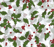 50cm x 80cm Each Measure Holly Berry on White Christmas Tissue Paper Party Supply Gift Christmas Wrapping Supplies Tissue Paper 10 Large Sheets