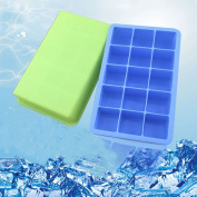 LetGoShop 15-Cavity Square silicone mould for Soap, Cake, Bread, Muffin, Cupcake, Cheesecake, Cornbread, Brownie, Ice cube