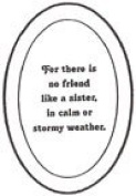 10cm x 15cm Oval Engraved SISTER premium 1.3cm Bevelled Glass - Pkg of 4