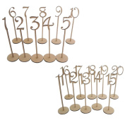 ROSENICE Wedding Table Numbers 1-40 Wooden Table Card with Holder Base for Home Decor