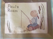 """Room Signs """" Fishing"""" Embroidery Kit 280"""