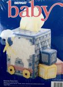 Bernat Baby Plastic Canvas Cross Stitch Kit W26220 Memories Tissue Cover