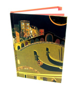 A5 Hard Cover Magnetic Closing Notebook - Spirit City Collection, Venice Design - 160 Pages - by Robert Frederick