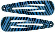Capelli New York Ladies Zebra Print Snap Clip Set Purple One Size