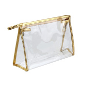 Happy Will Clear Transparent Waterproof Plastic PVC Travel Cosmetic Bag Makeup Bag Organiser Pouches Bag Tote Bag for Women Girls