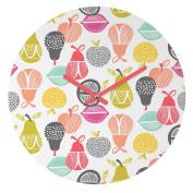 DENY Designs Wendy Kendall Retro Fruit Round Clock, 30cm Round