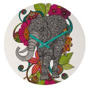 DENY Designs Valentina Ramos Ruby The Elephant Round Clock, 30cm Round