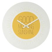 DENY Designs Allyson Johnson Morning Sunshine Round Clock, 30cm Round
