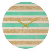DENY Designs Allyson Johnson Glitter and Mint Round Clock, 30cm Round