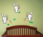 Pop Decors Wall Decals, Bunnies Love Carrots