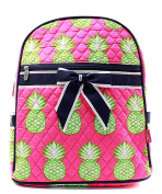 J & C Family Owned Pineapple Quilted 33cm Backpack