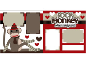 """Sock Monkey"" Scrapbook Kit"