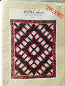 Irish Cabin quilt pattern - queen and king size