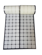 2.5cm White Square Straps 168 Pairs Self Adhestive Hook And Loop Strips With Waterproof Sticky Glue Fastener