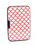 Aluminium Wallet Credit Card Holder with RFID Protection - Red Pattern