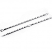 2pcs Carbon Steel Blackhead Acne Comedone Pimple Blemish Extractor Remover Needles Beauty Tool Set
