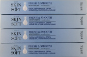 Avon Skin So Soft Fresh & Smooth Moisturising Facial Hair Removal Cream - Set of 4